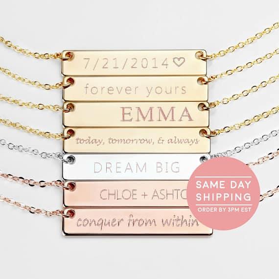 Custom Name Necklace #necklace #customjewelry #etsy