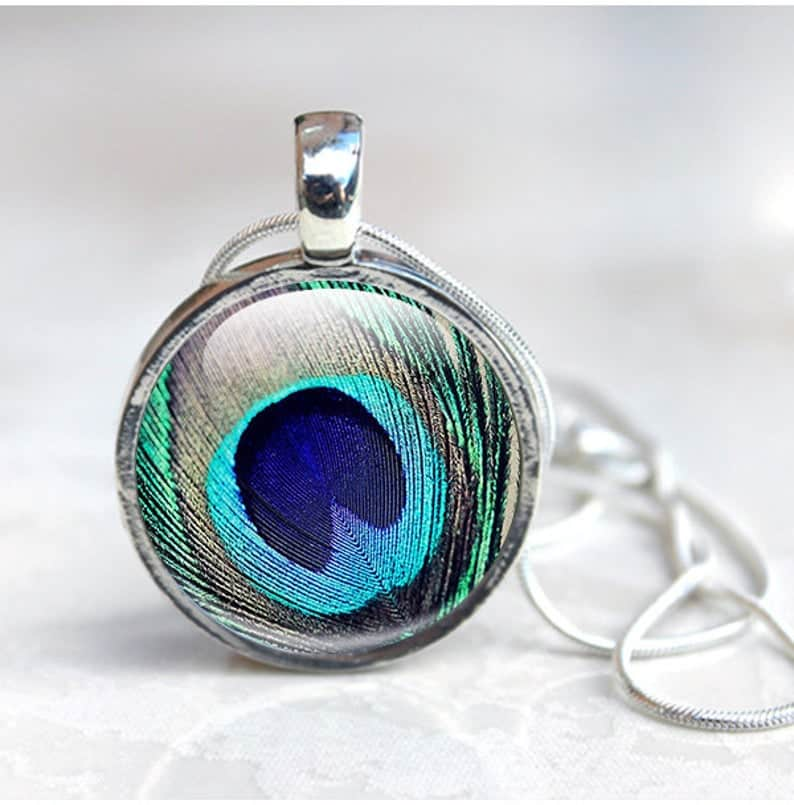 Peacock Necklace #peacock #necklace #etsy