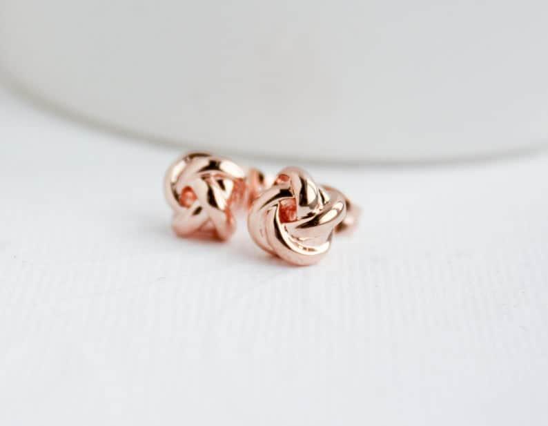 Rose Gold Knot Earrings #earrings #rosegold