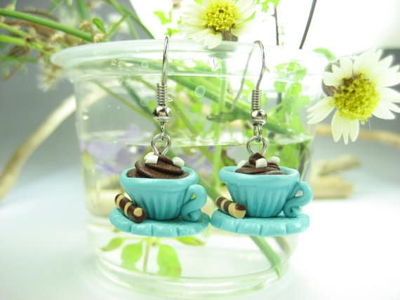 Hot Chocolate Earrings  #cuteearrings