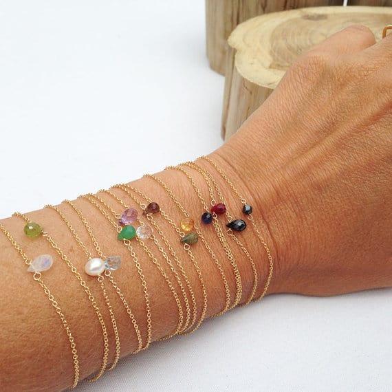 Gemstone Bracelets #gemstonejewelry #bracelets #etsy