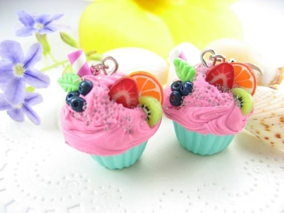 Cupcake Earrings #cuteearrings