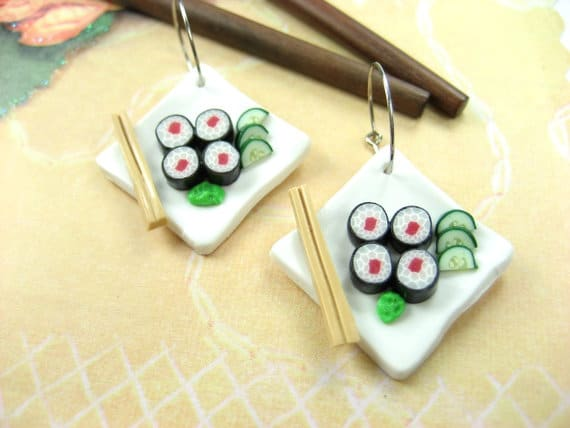 Sushi Earrings #funnyearrings