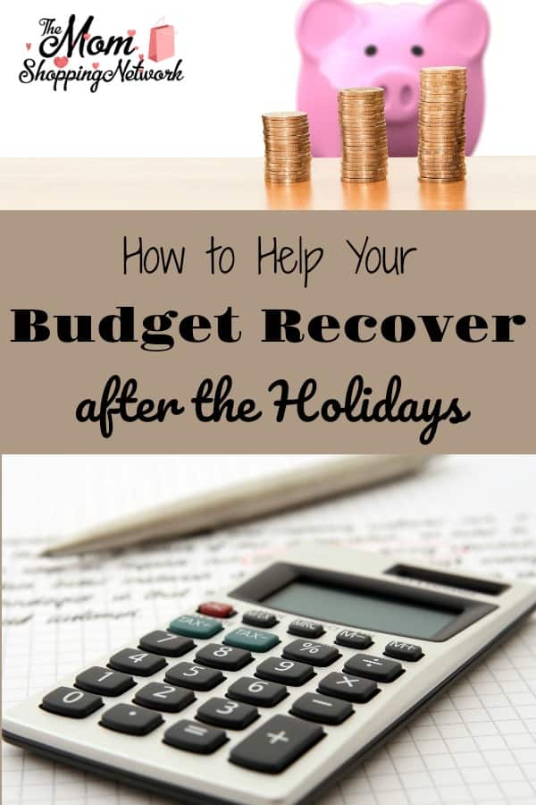 How to Help Your Budget Recover After the Holidays. #budgettips #financetips #moneytips