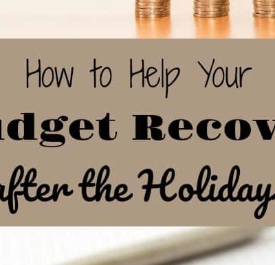 How to Help Your Budget Recover After the Holidays