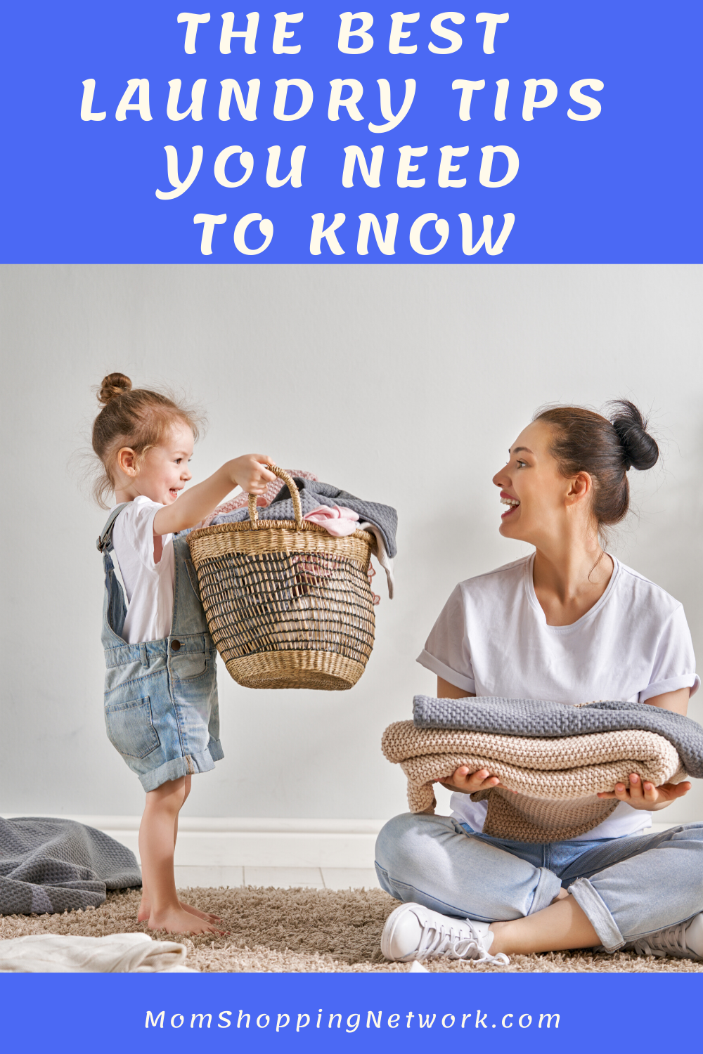 The Best Laundry Tips You Need To Know.  #laundrytips #laundry #householdtips #cleaningtips #momshoppingnetwork