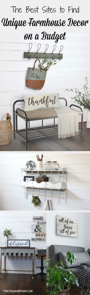 Are you a Fixer Upper fanatic? Do you wish Joanna Gaines would come and decorate your house? Met too, but until then I guess we'll have to do it ourselves! These really are the best sites to find unique farmhouse decor on a budget! Farmhouse Decor | Farmhouse Decor on a Budget |Unique Farmhouse Decor |Budget-Friendly Farmhouse Decor | Joanna Gaines | Farmhouse Decor Joanna Gaines |Farmhouse Decor Vintage | Farmhouse Decor Signs | Farmhouse Decor Kitchen | Farmhouse Decor Bathroom | Farmhouse Decor Livingroom | Farmhouse Decor Rustic | Farmhouse Decor Modern | Farmhouse Decor Ideas |Farmhouse Decor Tips