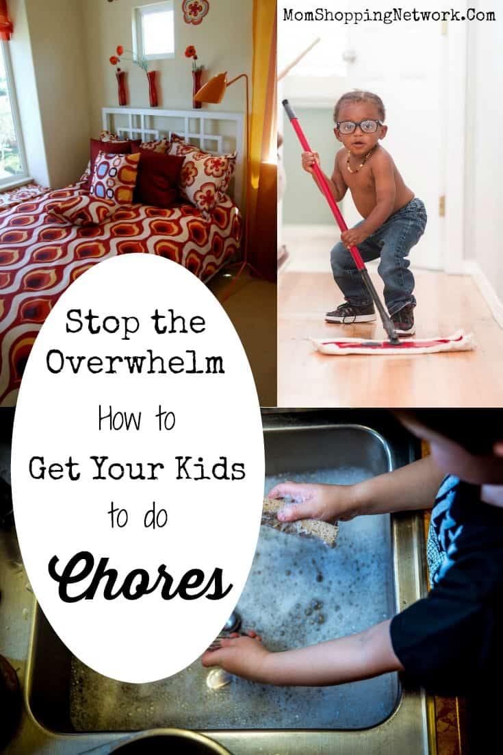 Don't Overwhelm Your Kids, Get Them to Do Chores More Efficiently #kidscleaning #kidschores #chores #momshoppingnetwork