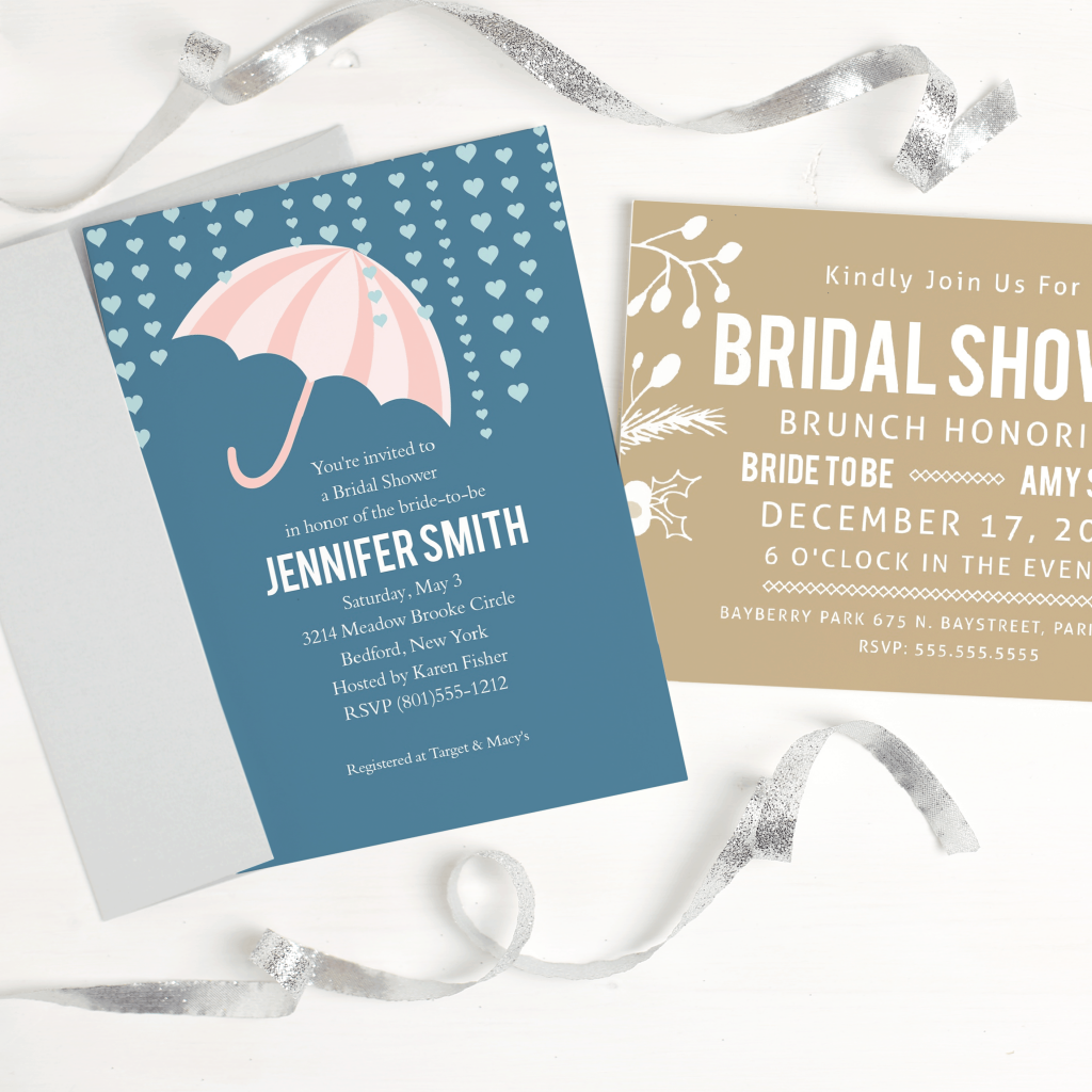 Sweet bridal shower invites any bride would love! #bridalshowerinvites #bridalshower