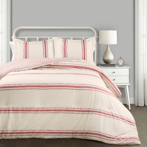 Antique Farmhouse Striped Country Comforter #bedroomdecor #countryquilt #bedding