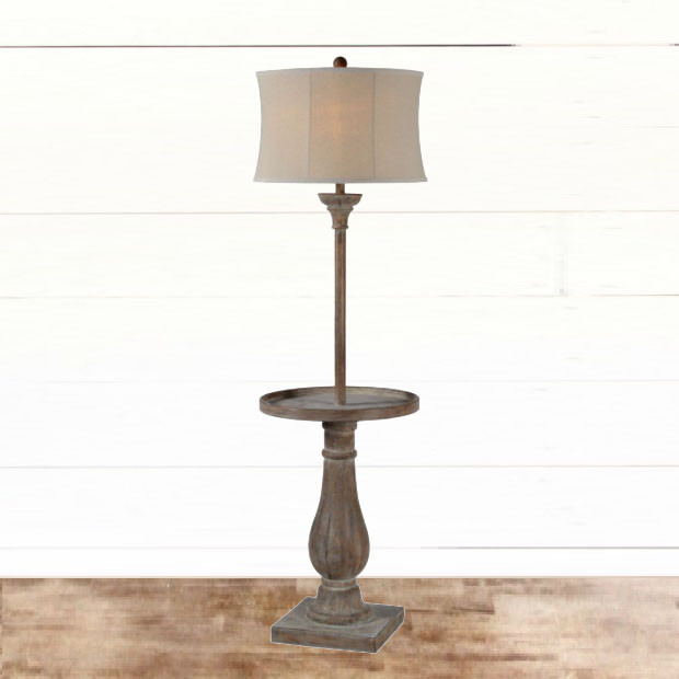 Rustic Table Floor Lamp #floorlamp #tablelamp #rusticfloorlamp #bedroomdecor