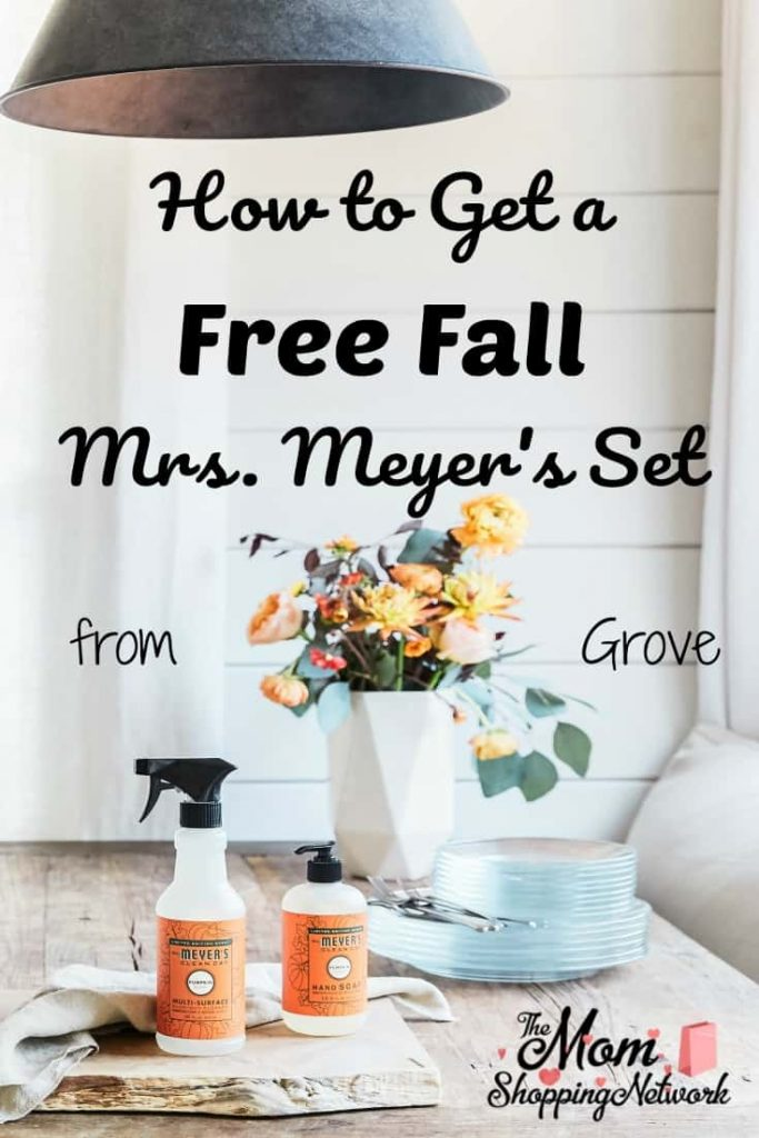 I love this time of year when you can get a Free Fall Mrs. Meyer's Set from Grove Collaborative, their new Pumpkin scent is amazing! #free #fall #fallscents #grovecollab