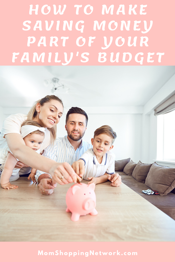 How to Make Saving Money Part of Your Family's Budget #budget #budgettips #financetips #savingmoney