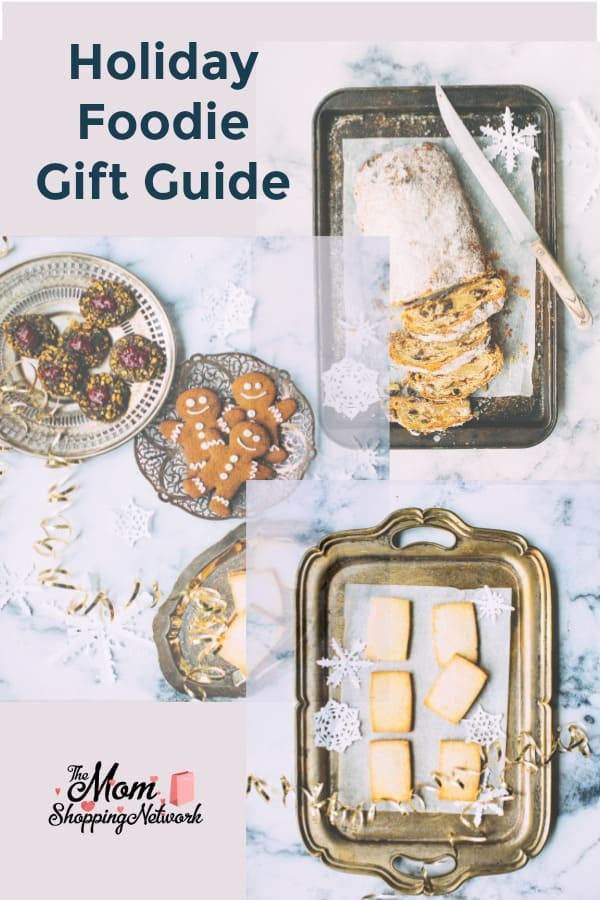 This Holiday Foodie Gift Guide has some awesome gift ideas for true food lovers! #foodie #holidays #giftguide #giftideas #giftbaskets