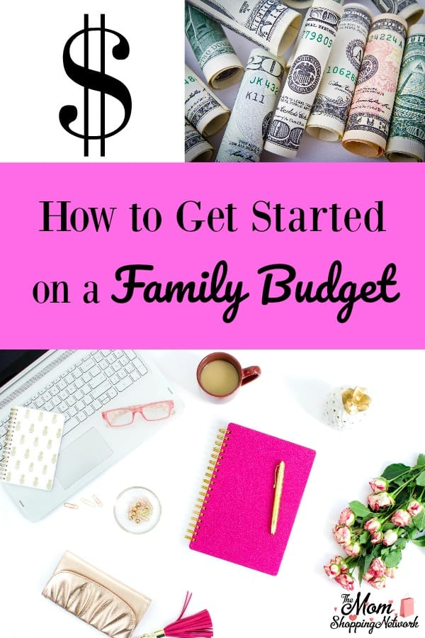 These tips on how to get started on a family budget are so helpful, especially for organizing finances in time for the new year! #budget #budgeting #familybudget #finances #savingmoney