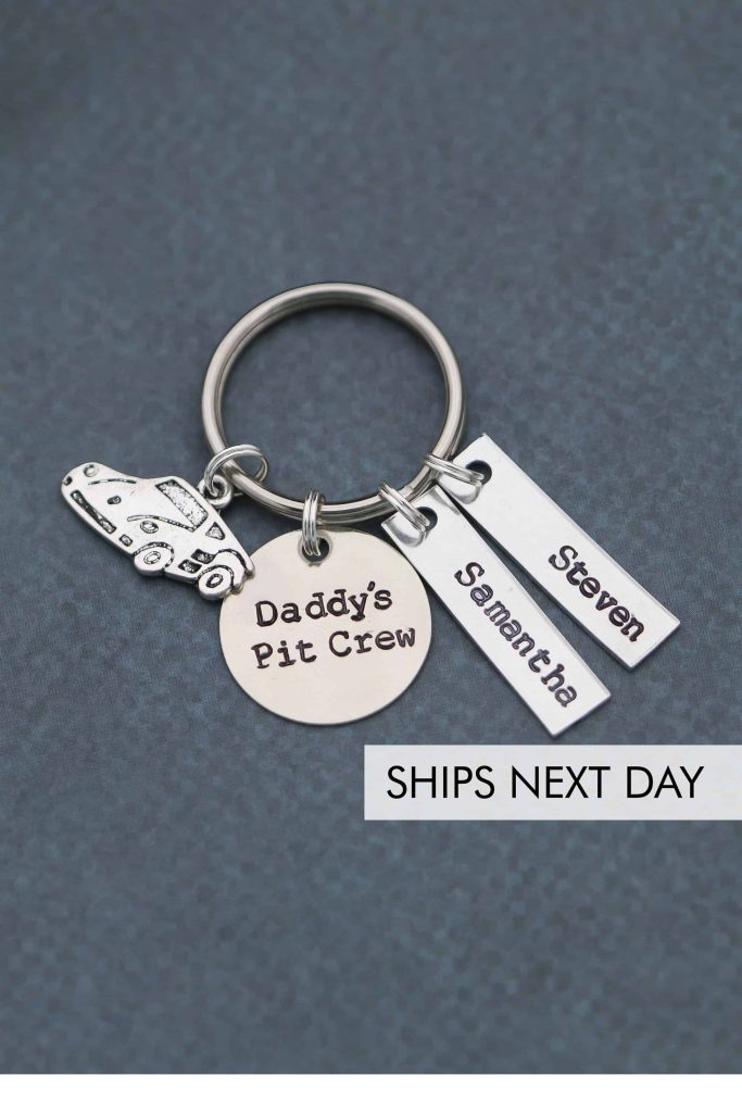 Custom Key Ring for Fathers #dadgifts #giftsfordad #dadgiftguide