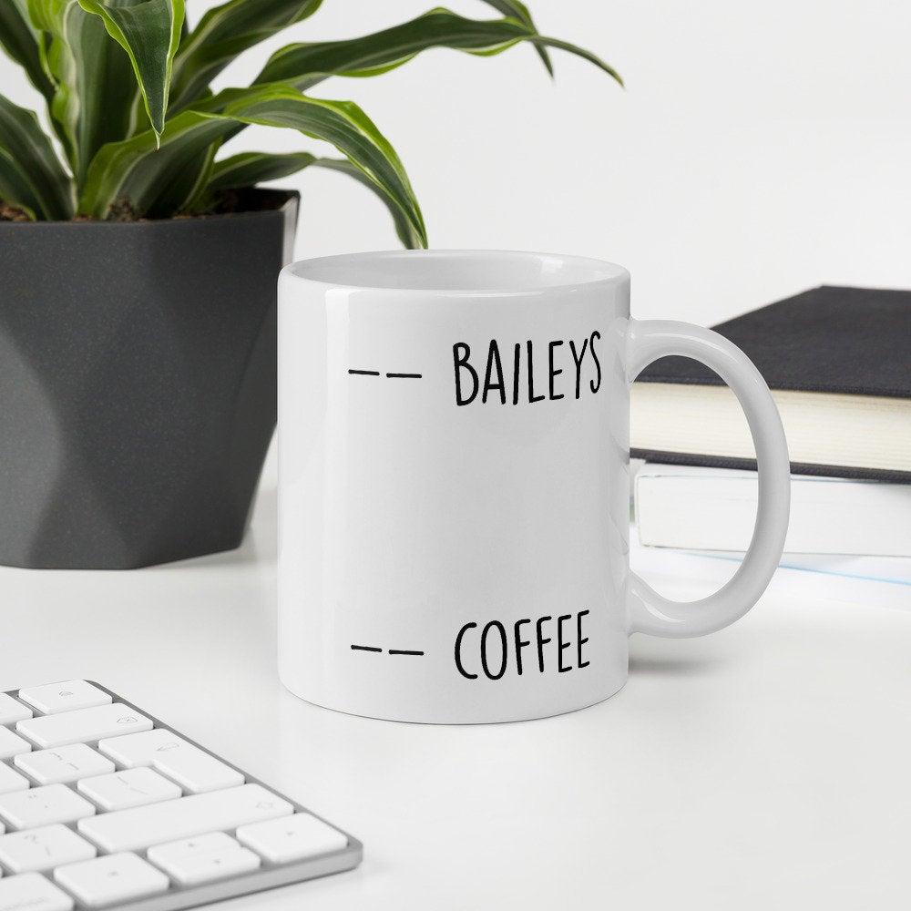 Baileys and Coffee coffee mug. #coffeemug #funnycoffeemug #giftguide #valentinesdaygiftguide #giftguideformoms #momshoppingnetwork