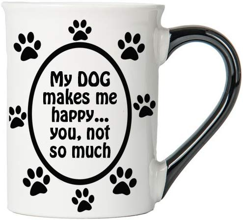 My Dog makes me happy coffee mug  #coffeemug #coffeegifts #doglover #giftsfordoglovers