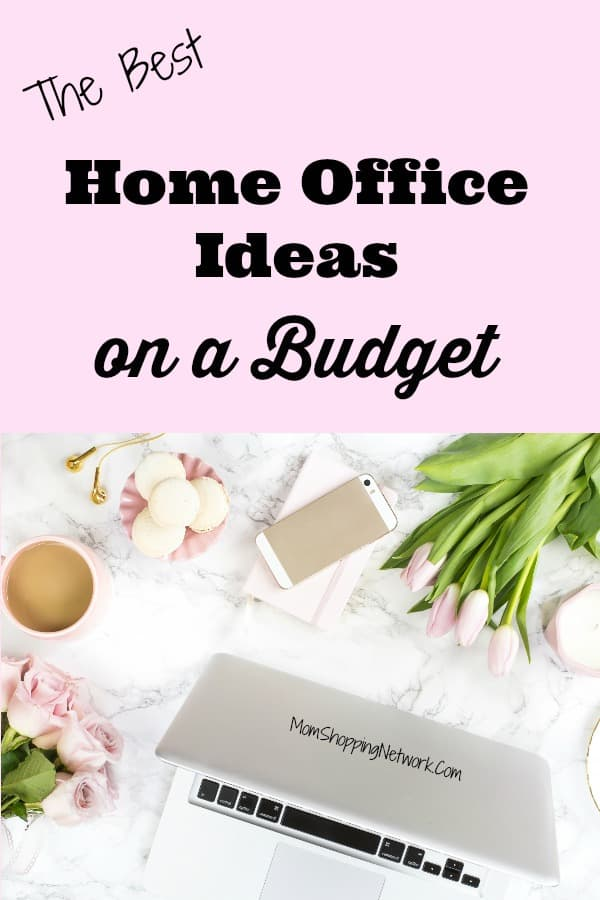 Love these home office ideas on a budget, great tips for what to have in a home office that you'll want to see! #homeoffice #budgethomeoffice #officedecor #officedesign #homeofficedecor