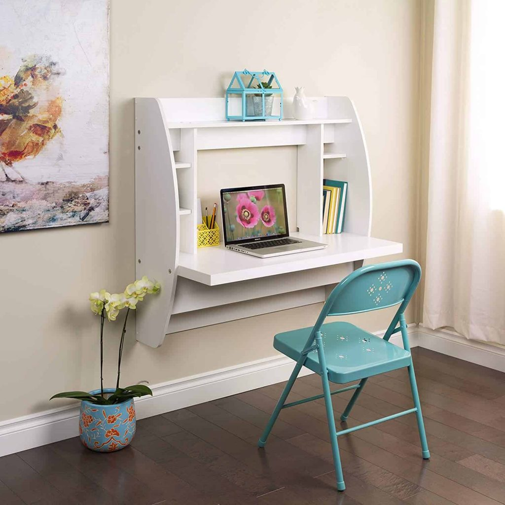 home office ideas- wall desk