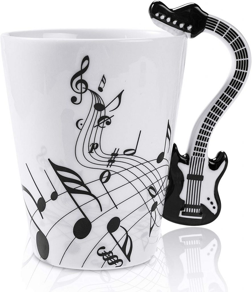 Guitar Coffee Mug #guitarplayer #coffeemug #coffeegifts #coffeelover