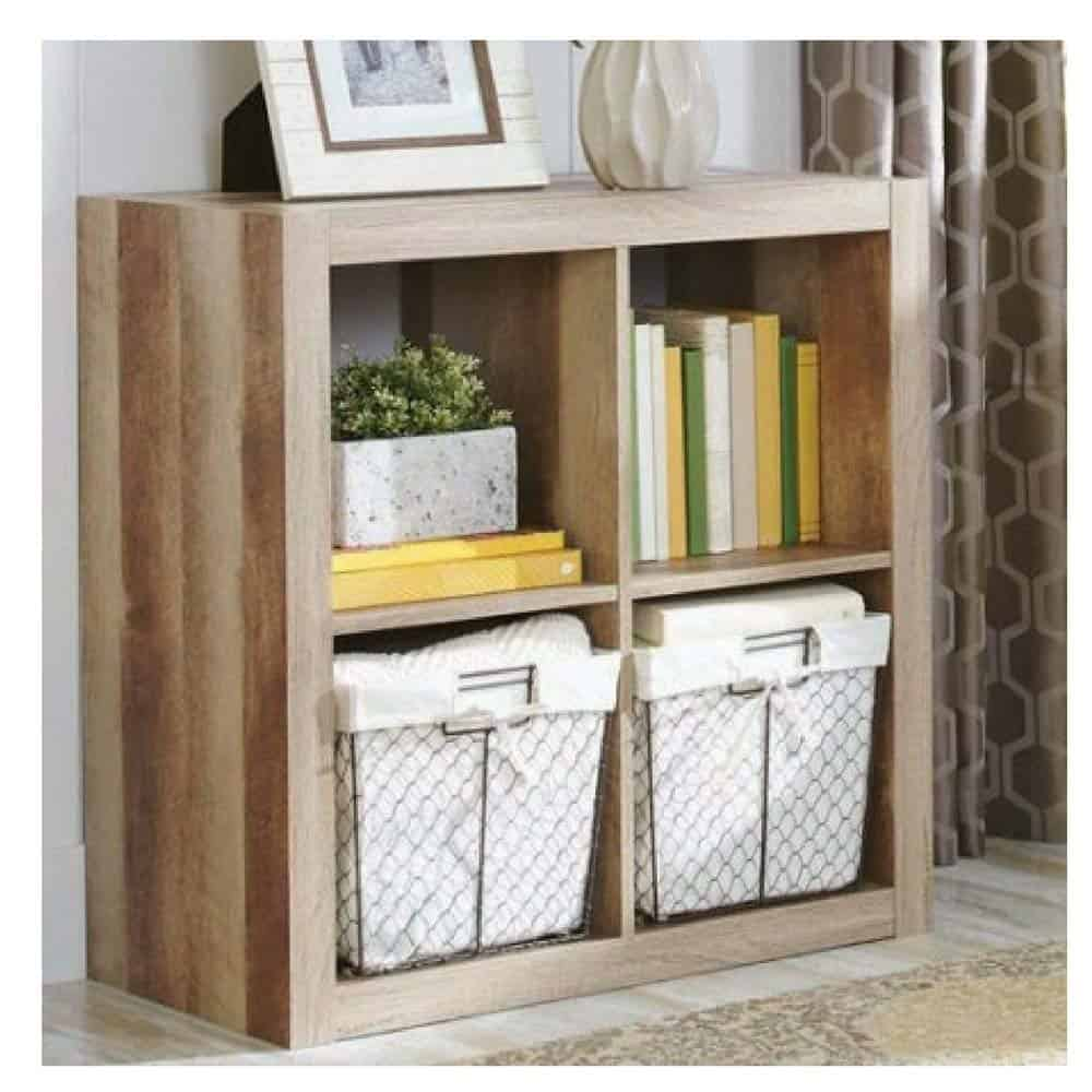 bookshelf for storage in home office