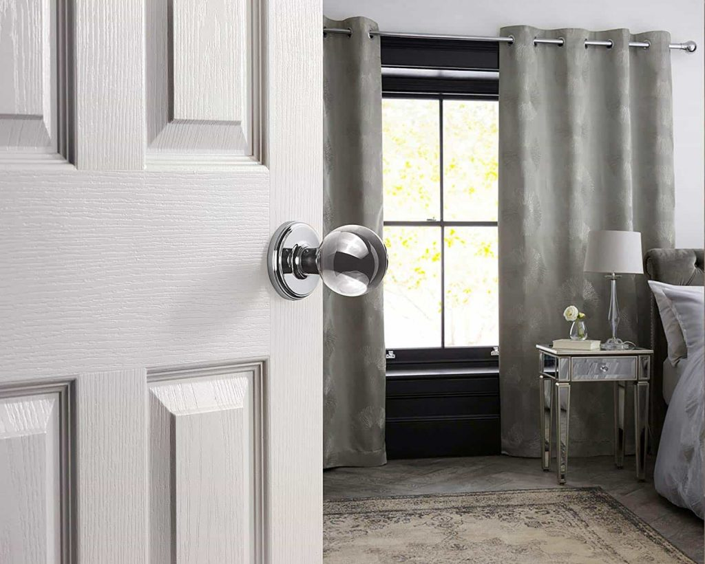 crystal ball doorknobs for teen girl's bedroom door