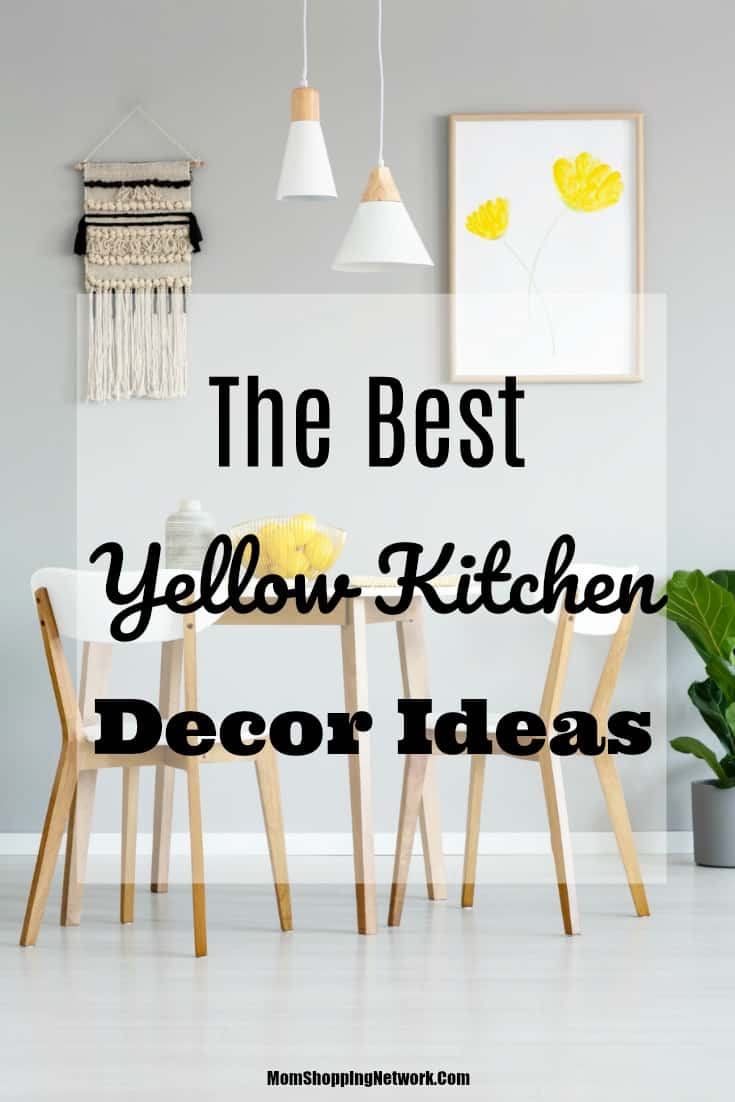 The Best Yellow Kitchen Decor You Need To See The Mom Shopping