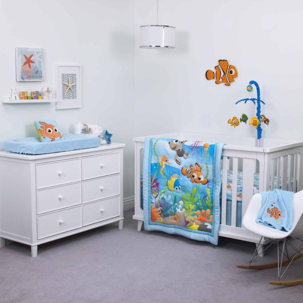nursery room ideas including Disney's Finding Nemo Room decor
