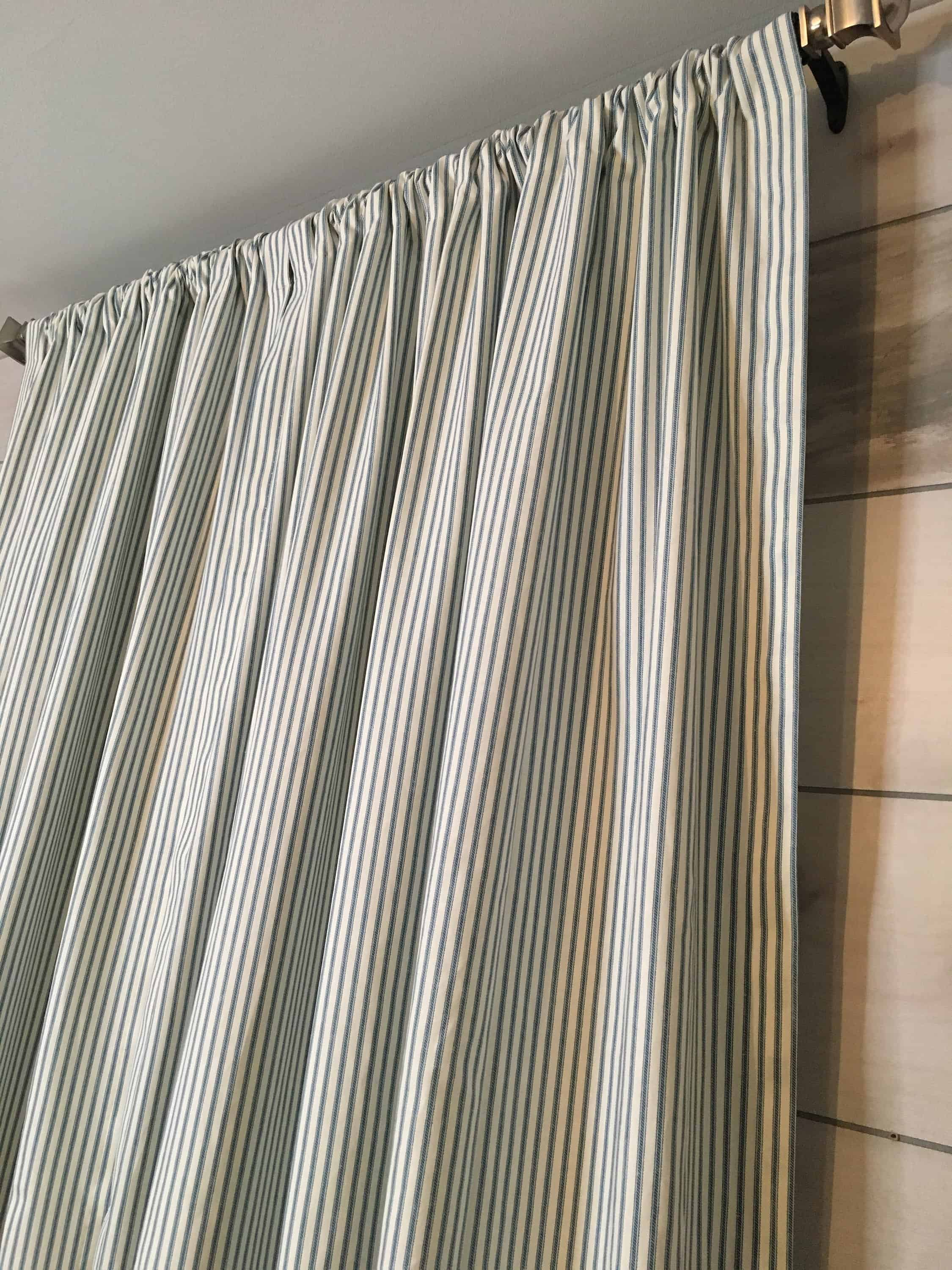 lined farmhouse curtains