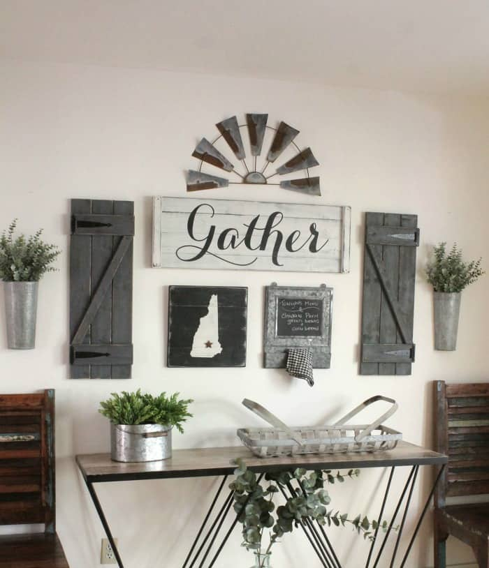 farmhouse gallery wall