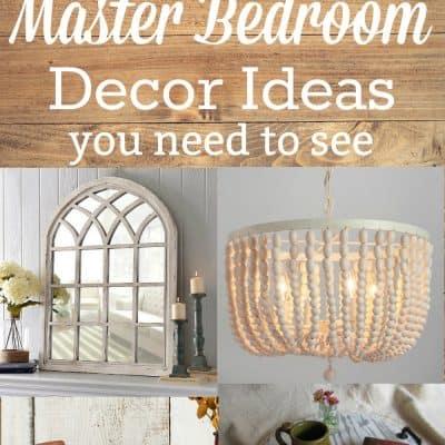 farmhouse master bedroom decor ideas