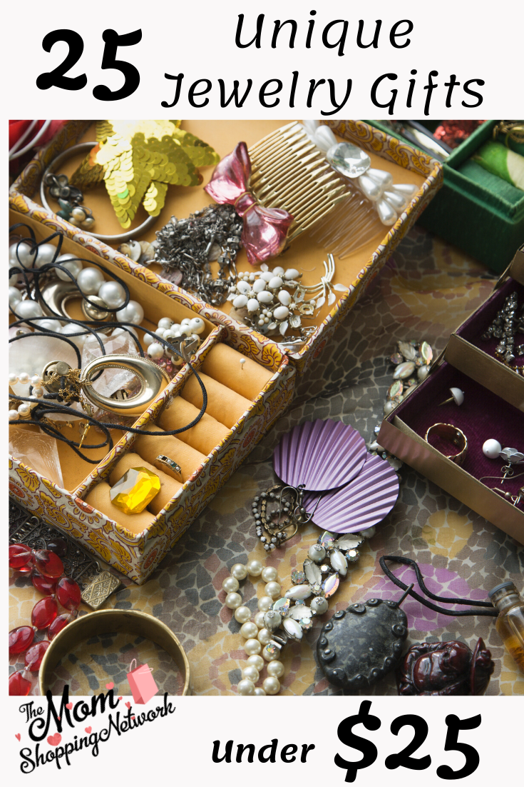 25 Unique Jewelry Gifts Under $25 #jewelrygifts #uniquejewelry