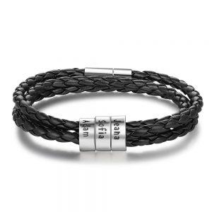Personalized Mens Braided Bracelet #mensjewerly