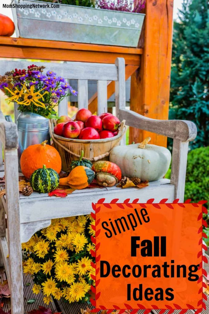 fall decorations on front porch