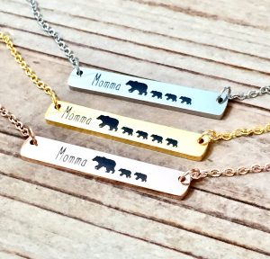 Momma Bear Necklace #necklace #gifts #etsy