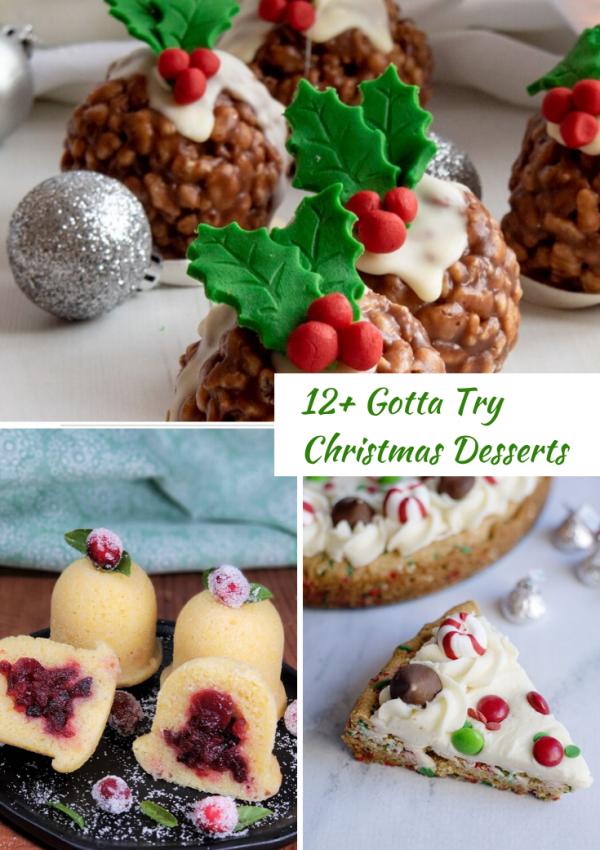 12+ Gotta Try Christmas Desserts #christmasdesserts #desserts #holidaybaking #holidaydesserts