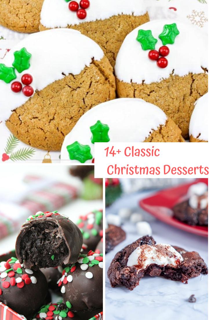 14 Classic Christmas Desserts #classicchristmas #classicdesserts #christmasdesserts
