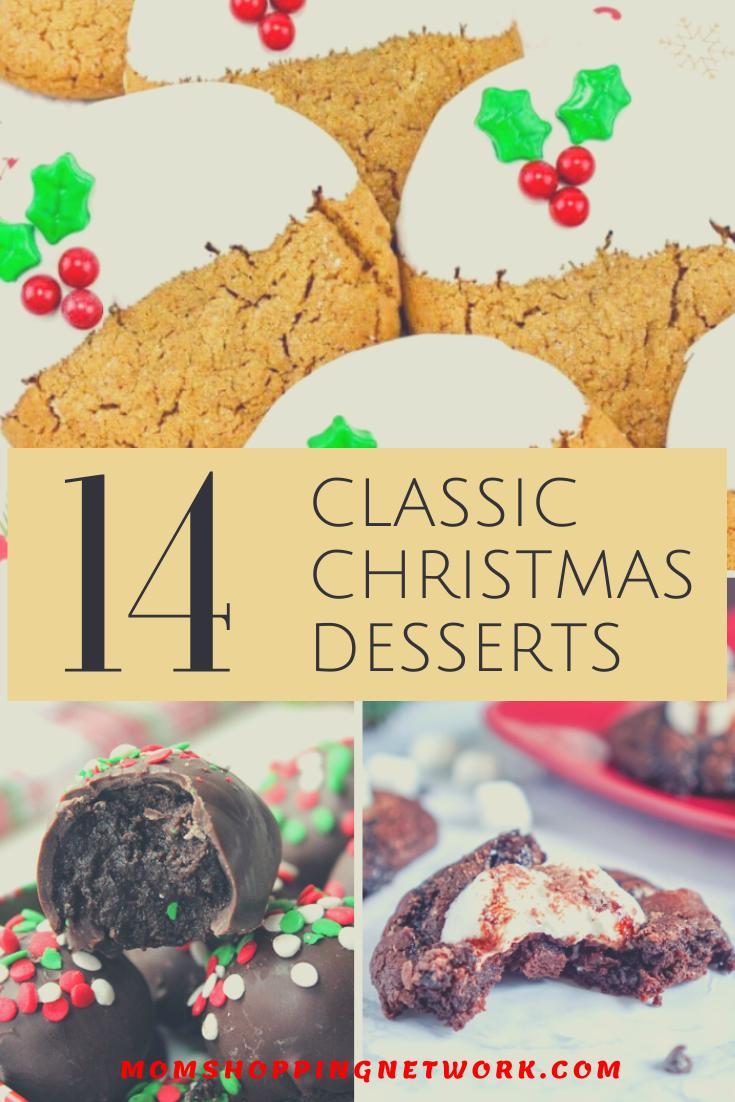 14 Classic Christmas Desserts #desserts #classicdesserts #classicchristmas #christmasdesserts #christmasbaking