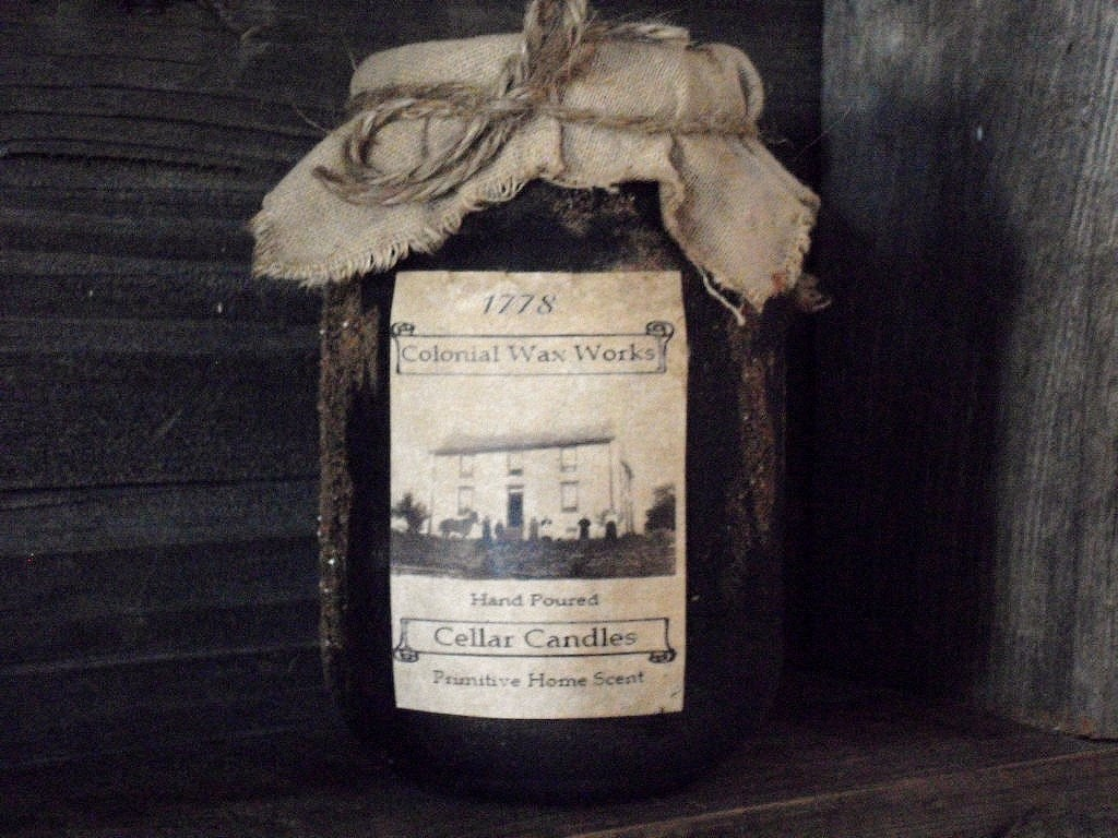 Primitive Jar Cellar Candles #candles #etsy #candlelover #candlegifts