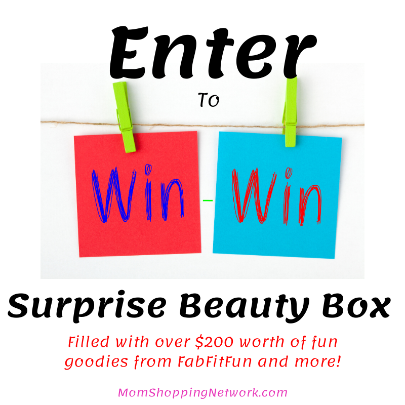 Surprise Beauty Box Giveaway from Mom Shopping Network #giveaway #fabfitfun #entertowin #beauty #beautybox #giveaway