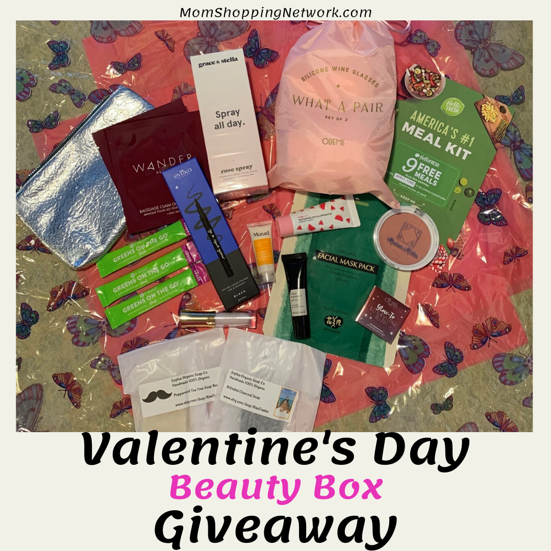 Valentine's Day Beauty Box Giveaway #giveaway #momshoppingnetwork #beauty #beautyproducts #entertowin