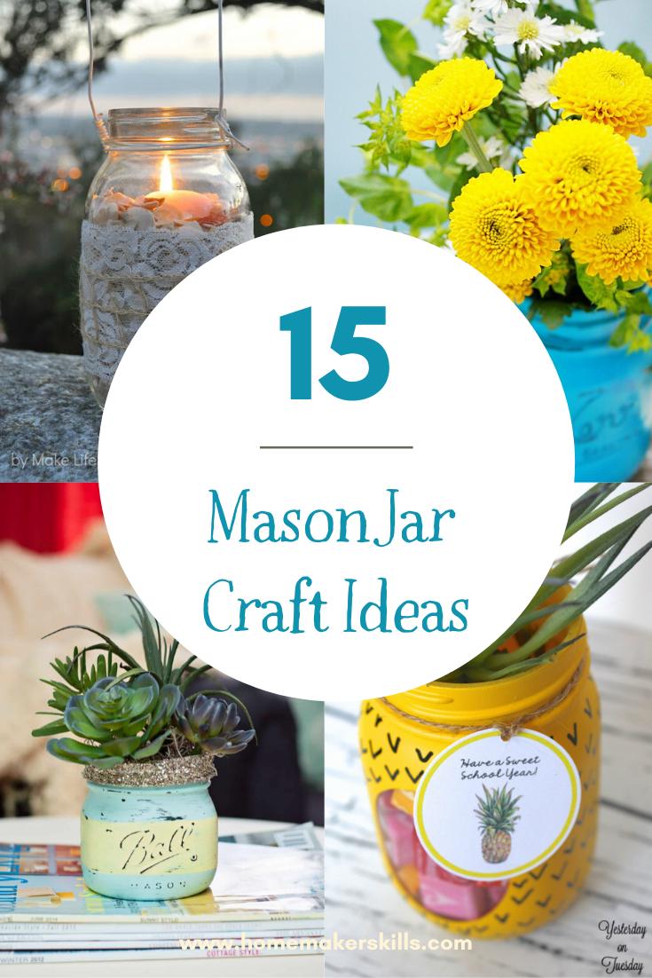15+ Mason Jar Crafts #masonjarcrafts #diycrafts #masonjardiy #diymasonjarcrafts #diycrafts